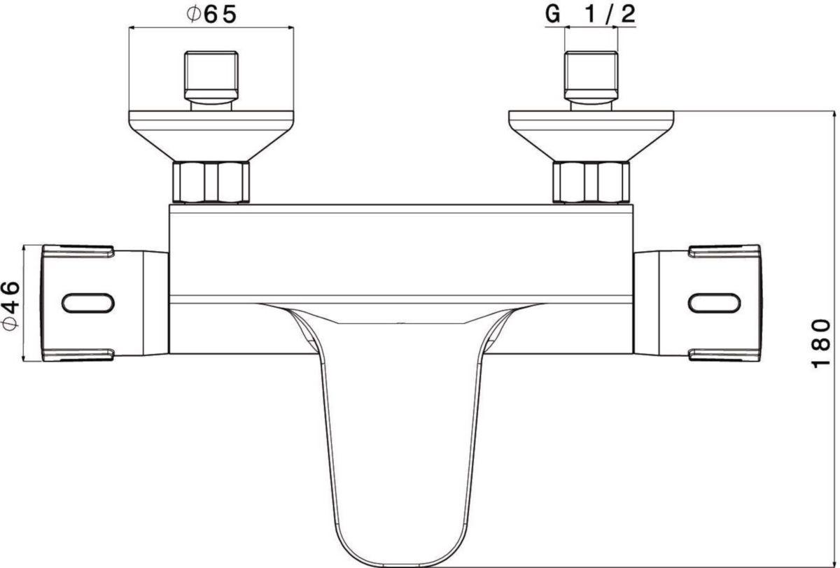 592bc820a0147 ... Mitigeur thermostatique bain douche Conc Mitigeur thermostatique bain  douche Conc. ALTERNA