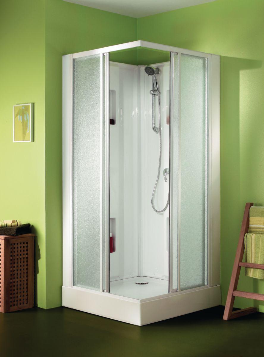 leda cabine de douche izibox carr e 90x90cm. Black Bedroom Furniture Sets. Home Design Ideas