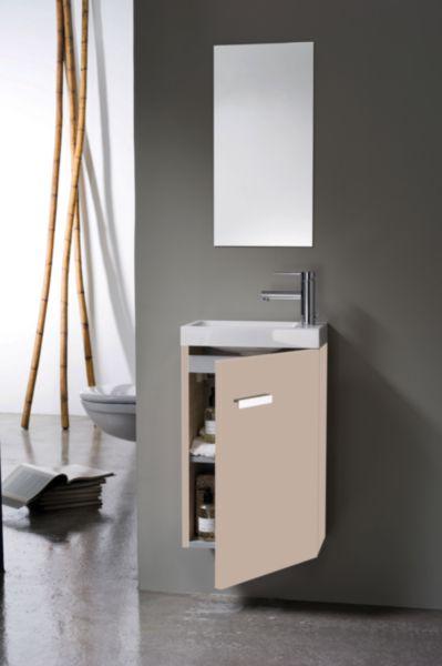 Meuble lave-mains WOODSTOCK 1 porte argile 40 cm