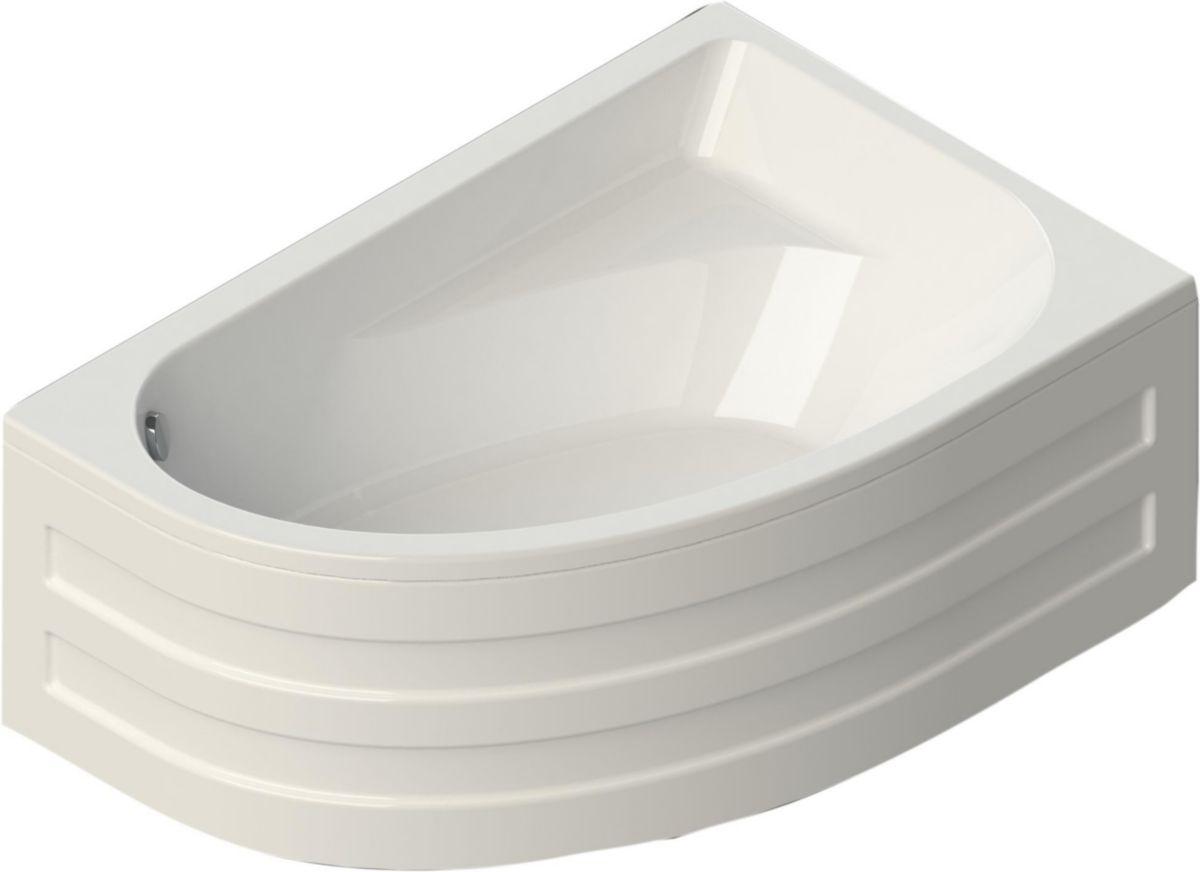 Baignoire Asymetrique Verseau 3 150 X 100 Cm Droite Acrylique Blanc