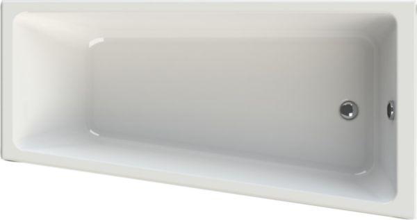 Baignoire asymétrique CONCERTO 3 170 x 90/65 cm droite acrylique blanc