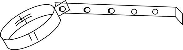 Collier de suspension Aluminium diamètre : réf. 000200