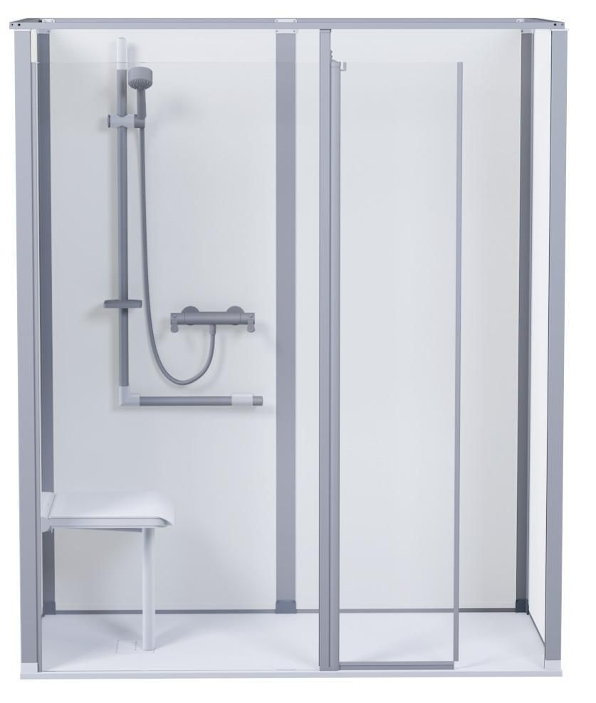 Akw International Cabine De Douche En Angle Level Best Sp Version Gauche 1400x900mm Blanc Ref 1490lblcwh Cedeo
