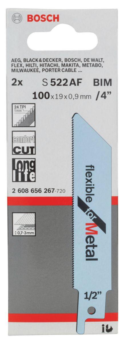 Lame de scie sabre S 522 AF Flexible For Metal Réf. 2608656267
