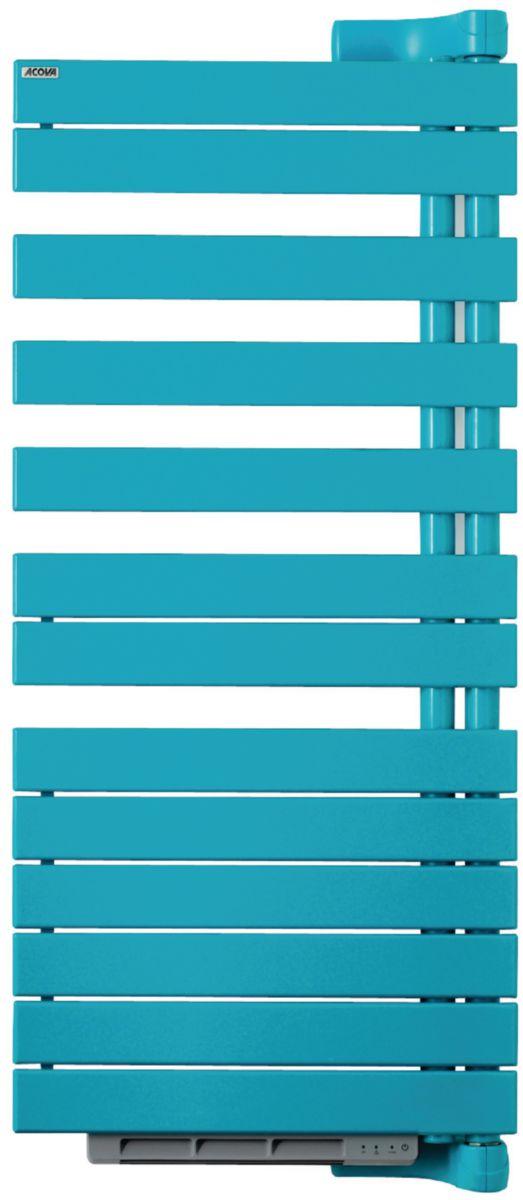 Radiateur sèche-serviettes REGATE TWIST +AIR électrique pivot à gauche  blanc 750 W équipé ... b24cb519e0a3