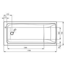 baignoire encastrer ou poser connect en acrylique 180x80cm avec trop plein cach ideal flow. Black Bedroom Furniture Sets. Home Design Ideas