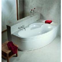 baignoire asym trique ladiva junior 160x100 cm droite avec tablier vidage standard non fourni. Black Bedroom Furniture Sets. Home Design Ideas