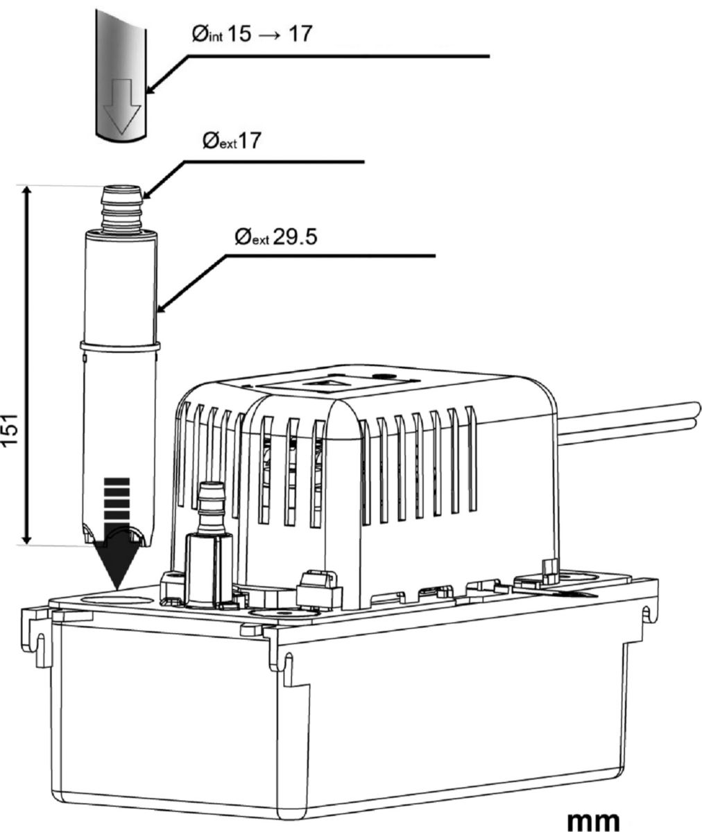 Pompe de relevage ALTECH + cartouche de neutralisation PH réf. SI1803ALFR23