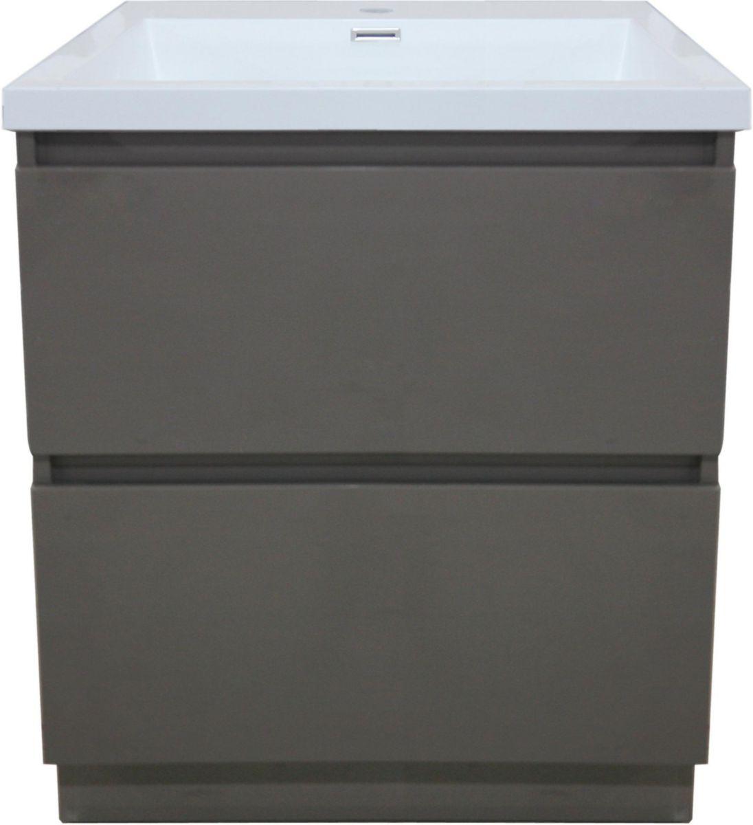 alterna meuble sous vasque primeo 80 cm au sol 2 tiroirs. Black Bedroom Furniture Sets. Home Design Ideas