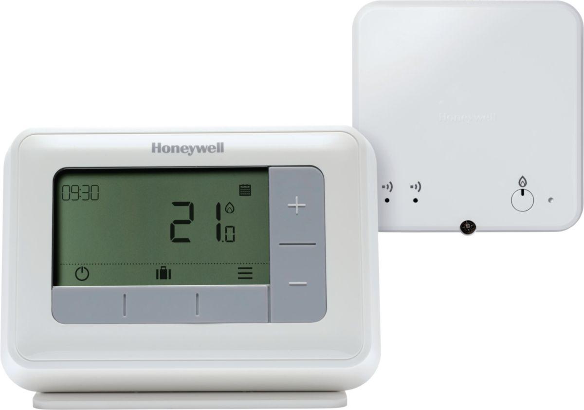 thermostat sans fil programmable t4r r f y4h910rf4004 honeywell. Black Bedroom Furniture Sets. Home Design Ideas