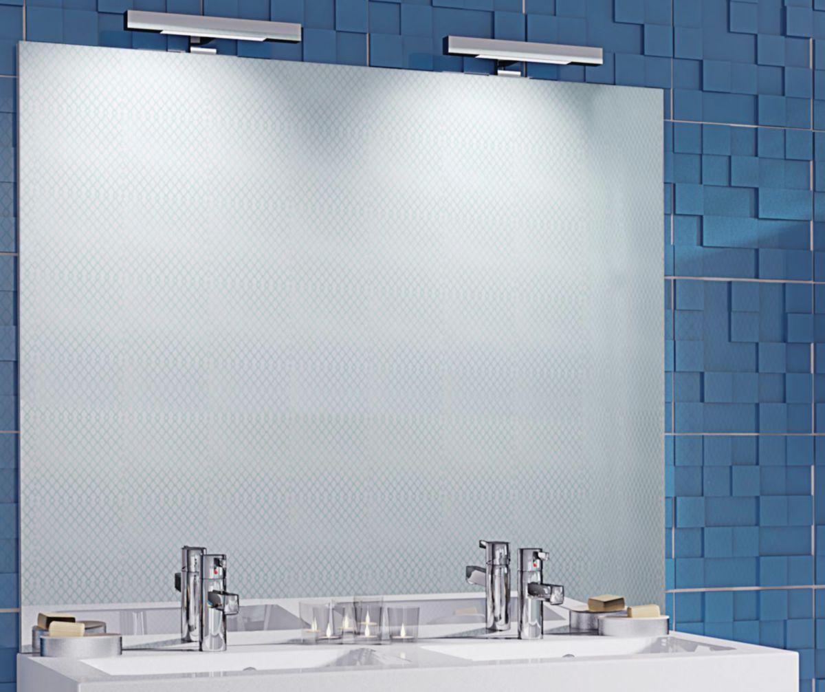 miroir de 3 mm contrecoll sur panneau de particules surfac m lamin blanc paisseur 16 mm. Black Bedroom Furniture Sets. Home Design Ideas