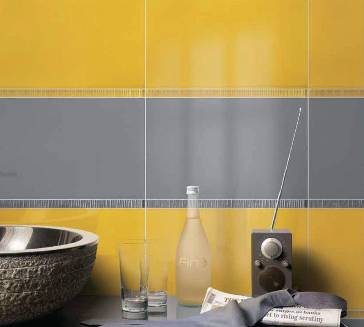 Indogatecom Faience Cuisine Moderne - Carrelage mural cuisine jaune pour idees de deco de cuisine