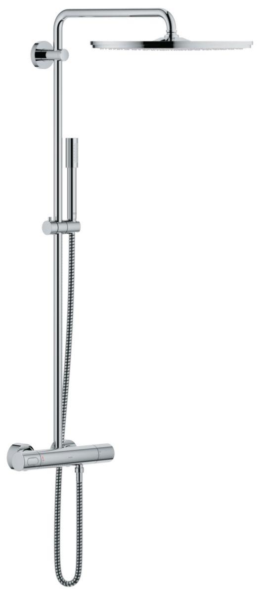 Colonne de douche avec mitigeur thermostatique douche de tête Jumbo ...