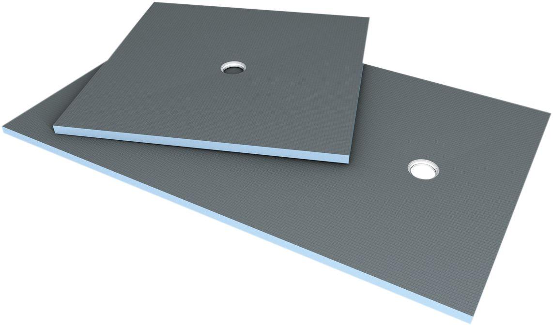 Receveur rectangulaire Fundo Primo - écoulement centré - polystyrène extrudé - 1,4x0,9 m - ép. 40 mm