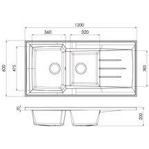 Evier poser montreal en r sine smc colori blanc for Evier resine 120x60