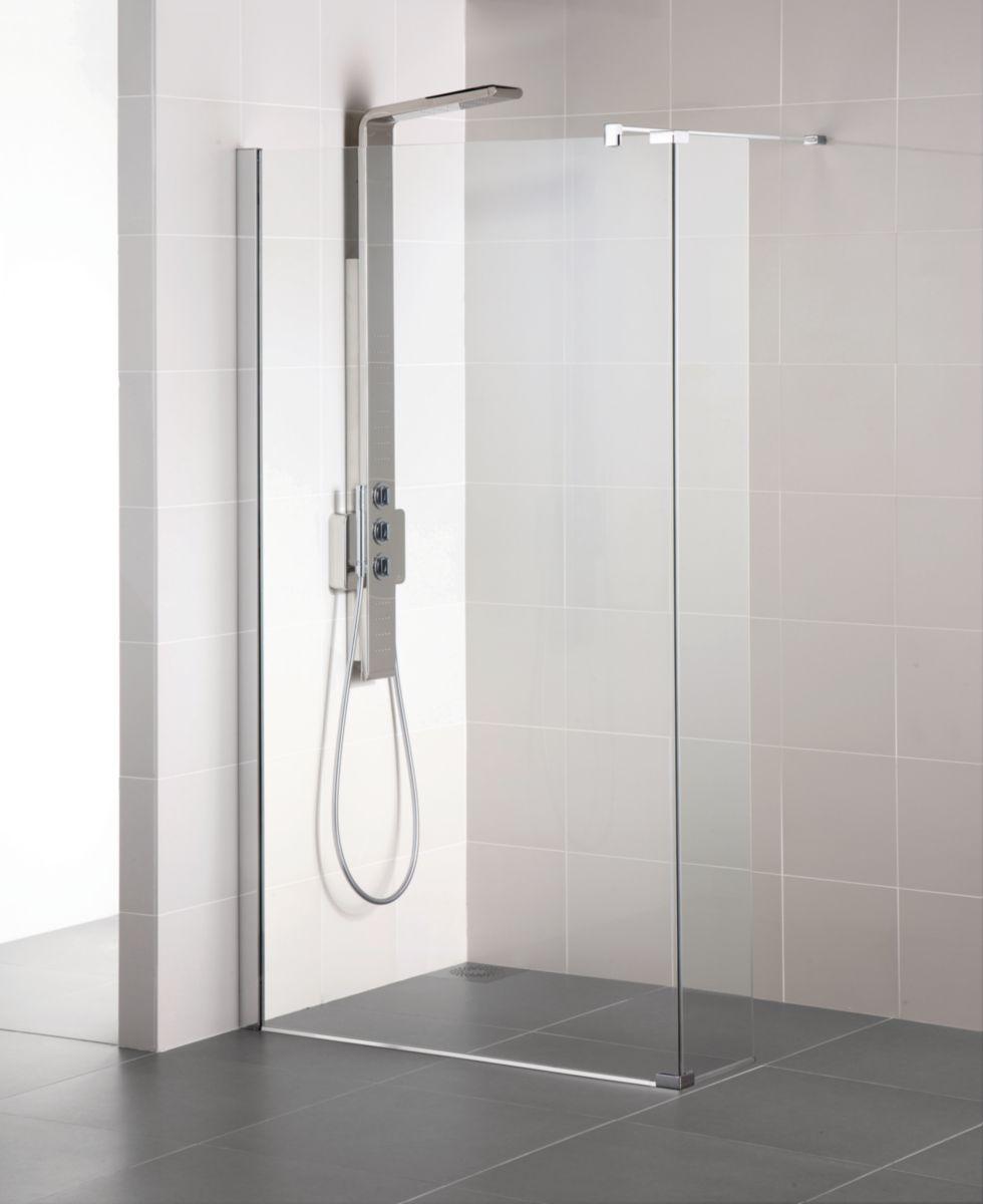 Paroi de douche fixe CONNECT 160 cm, ( ajustement 1554 - 1577 mm ), verre transparent Réf. L6227EO