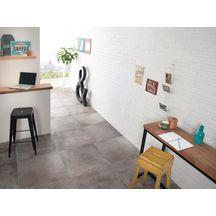 Parement mural intérieur grès cérame émaillé Brick blanc - 6x25 cm