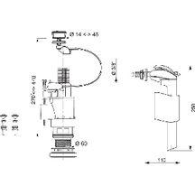 a double chasse /à c/âble duo+ altech mws90cdb avec robinet flotteur m/écanisme complet