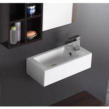 lave mains domino avec robinetterie droite 50 x 25 5 cm alterna sanitaire cedeo. Black Bedroom Furniture Sets. Home Design Ideas