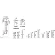 radiateur en fonte horizontal savane rafael 2 type s3. Black Bedroom Furniture Sets. Home Design Ideas