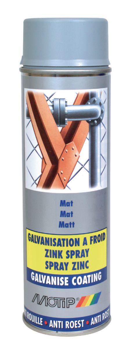 Galvanisation à froid gris mat 92% bombe de 500ml