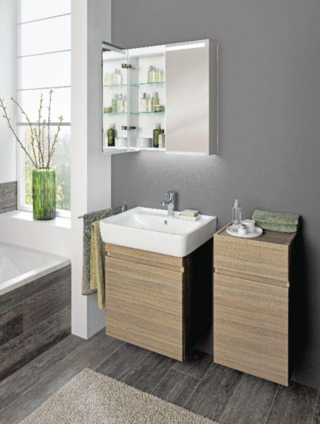 Meuble salle de bain PRIMA STYLE noyer 65 cm