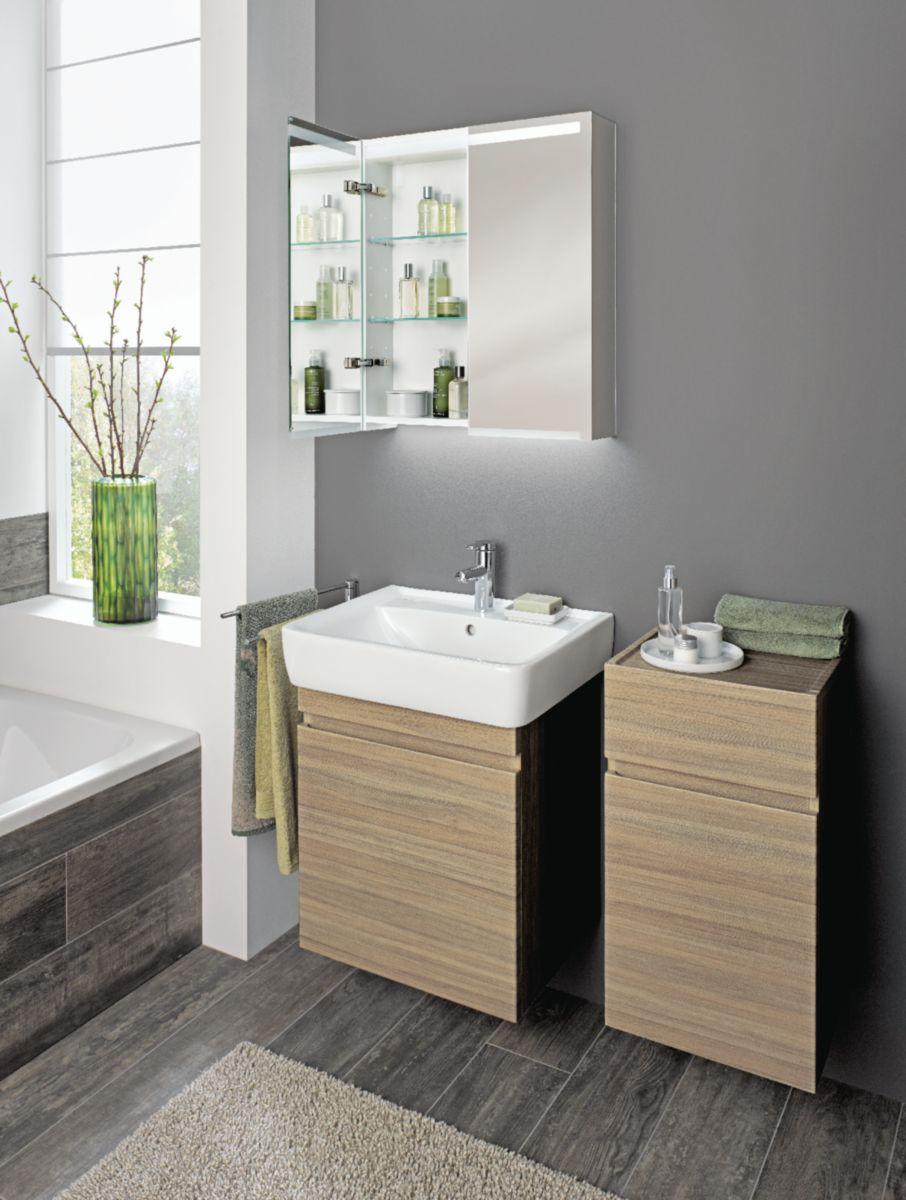 Meuble salle de bain prima style noyer 65 cm envie de - Meuble de salle de bain style baroque ...