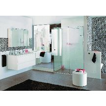 Plan de toilette All Day 120 cm double vasque en céramique