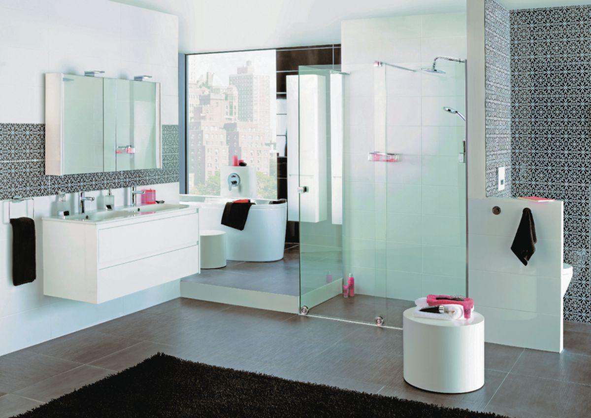 plan de toilette all day 120 cm double vasque en c ramique. Black Bedroom Furniture Sets. Home Design Ideas