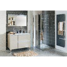 Meuble salle de bain PLENITUDE argile prof.50 cm, L 105 cm