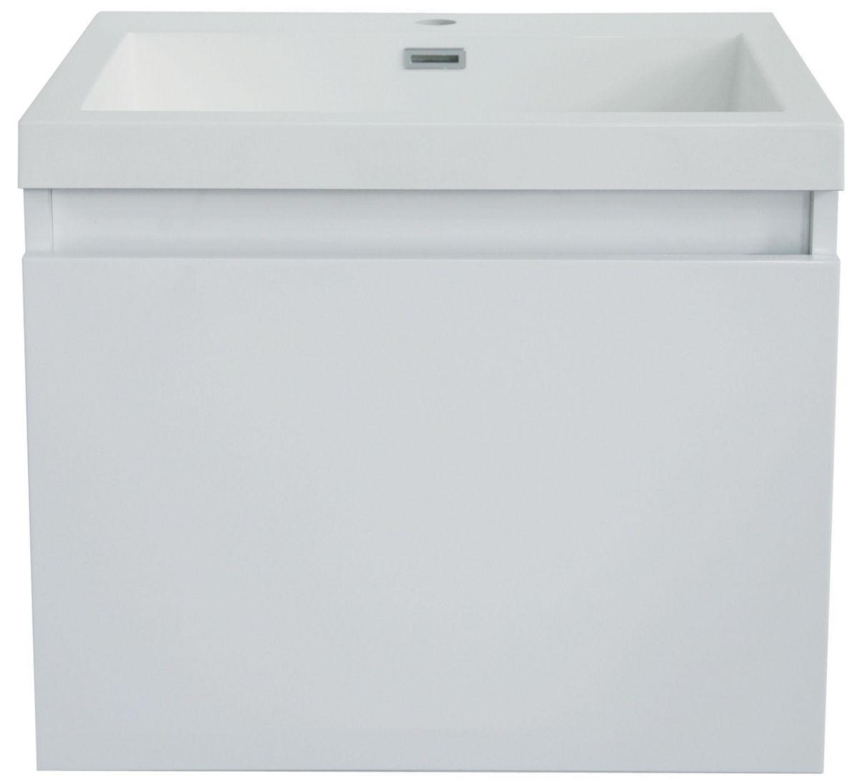 Meuble Salle De Bain Tiroir Suspendu ~ meuble primeo 60 cm suspendu 2 tiroirs blanc alterna sanitaire