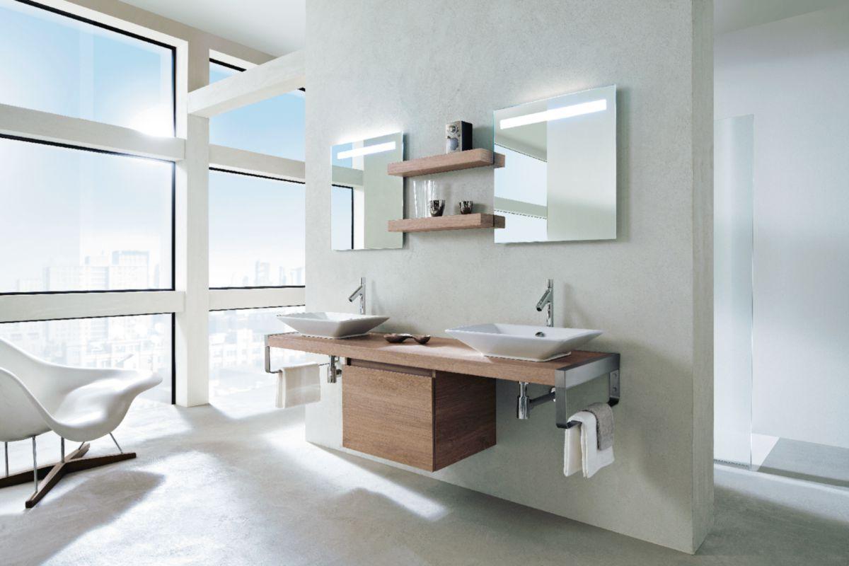Meuble salle de bain PARALLEL chêne Quebec 180 cm | Envie de salle ...