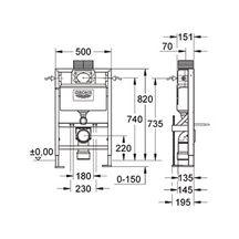 b ti support rapid sl pour wc autoportant avec pieds renforc s hauteur 82 cm largeur 50 cm. Black Bedroom Furniture Sets. Home Design Ideas