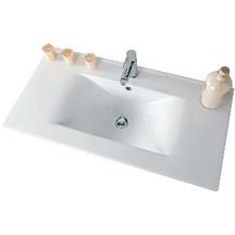 Plan c�ramique 1 vasque SEDUCTA, 90 cm, blanc