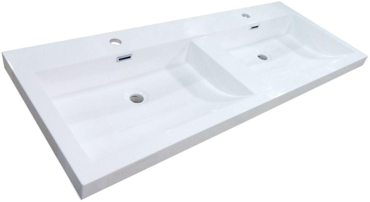 vasque avec trop plein int gr Plan de synthèse Primeo cuve carrée avec trop plein intégré 120 cm ...