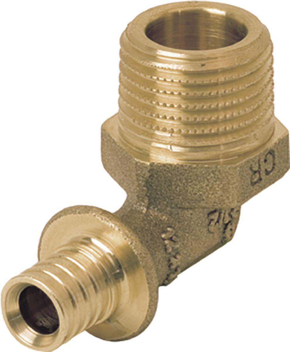 Coude à 90° diamètre 16-15x21 mâle en laiton Réf 11691361001
