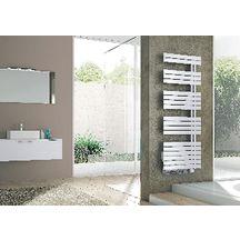 radiateur s che serviettes lectrique concerto asym trique 500w blanc booster 1000w r f. Black Bedroom Furniture Sets. Home Design Ideas
