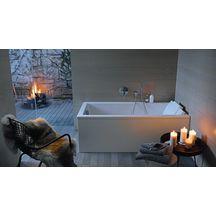 baignoire starck 1700x700mm blanc a encastrer avec pieds. Black Bedroom Furniture Sets. Home Design Ideas