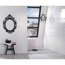 Carrelage mural intérieur faïence Iceberg - blanc brillant - 30x60 cm