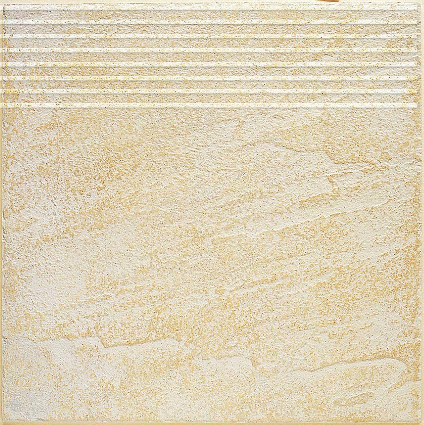 Arte Home Nez De Marche Gres Cerame Amboise Beige 30x30 Cm Cedeo