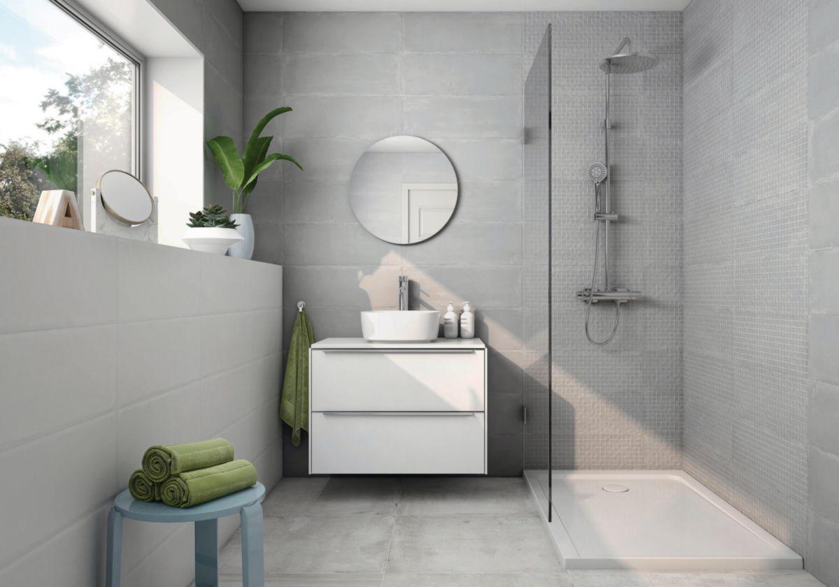 carrelage mural int rieur fa ence isis d cor mosa que gris 21x61 cm arte home. Black Bedroom Furniture Sets. Home Design Ideas