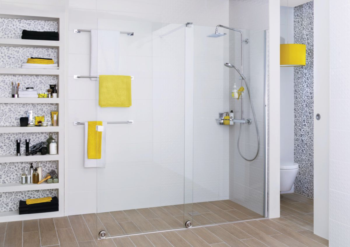 paroi de douche coulissante pureday 120 cm droite alterna. Black Bedroom Furniture Sets. Home Design Ideas