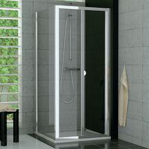 Paroi de douche fixe TOP LINE, 700x1900 mm, profilé argent mat, verre sécurit transparent Réf TOPF07000107