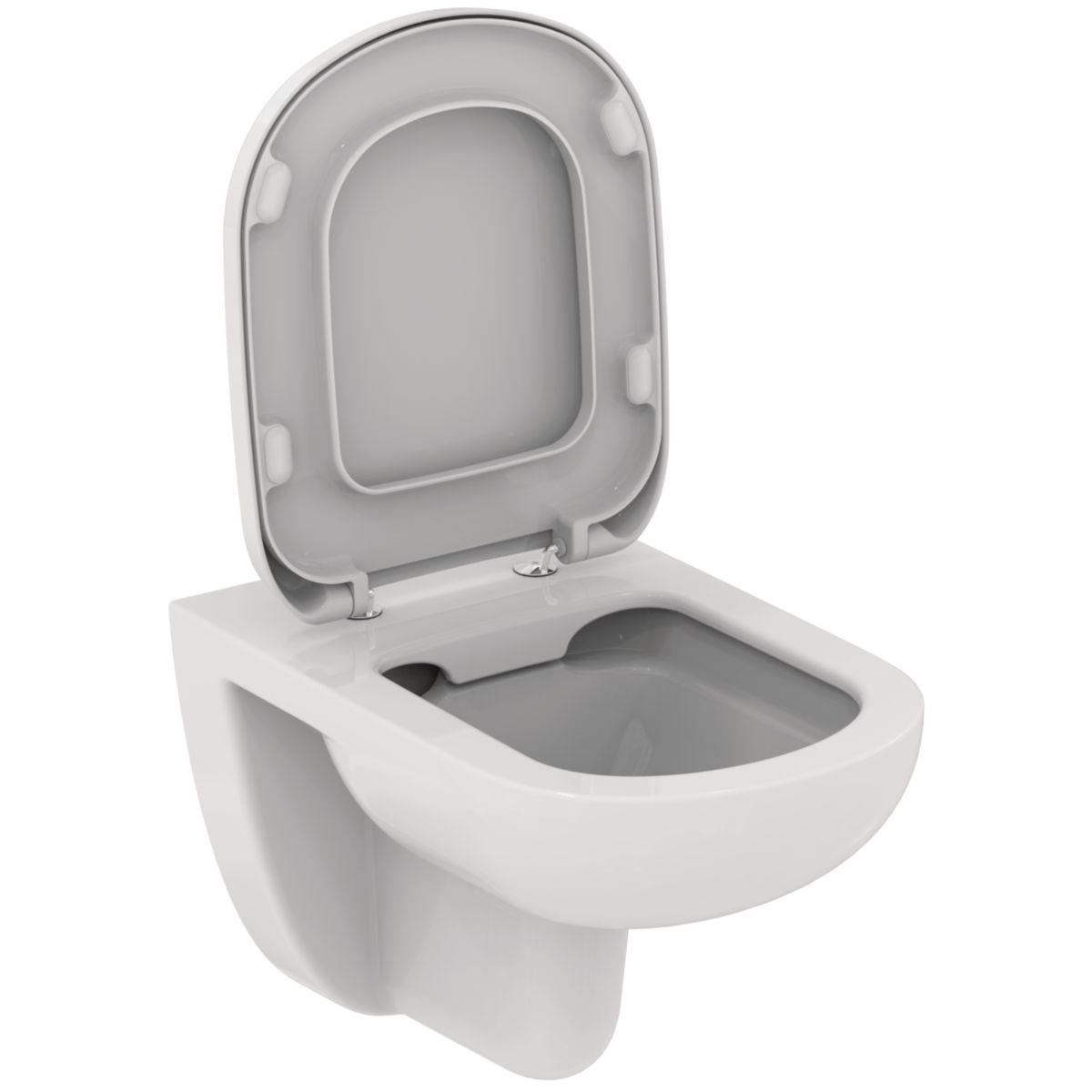 pack wc kheops cuvette suspendue sans bride avec abattant frein de chute blanc r f t312401. Black Bedroom Furniture Sets. Home Design Ideas