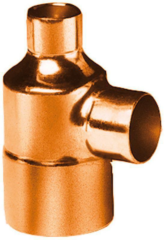 Té cuivre 5130 réduit triple femelle D 28/22/28 ALTECH (Sachet de deux éléments)