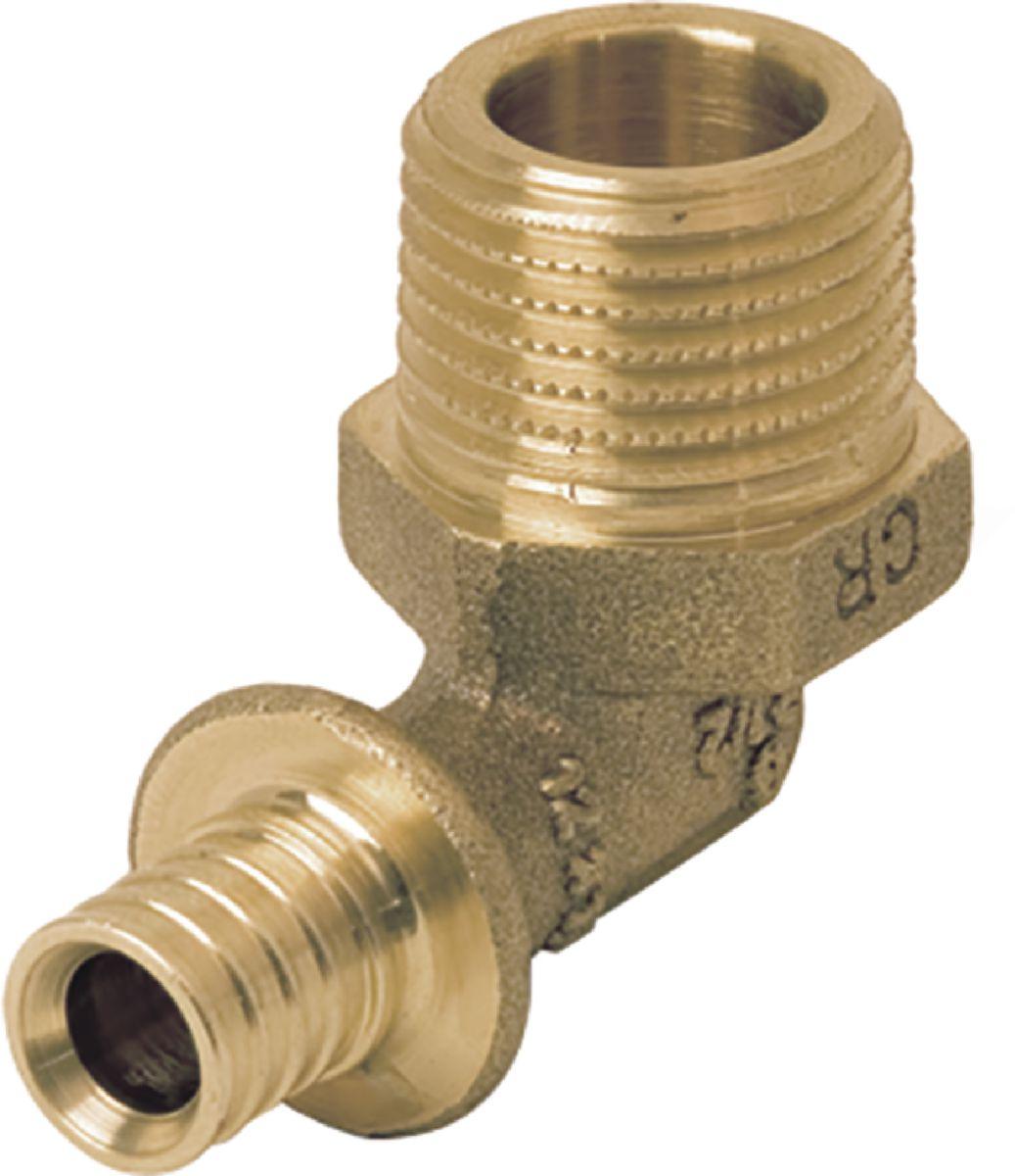 Coude à 90° diamètre 12-12x17 mâle en laiton Réf 11691341001