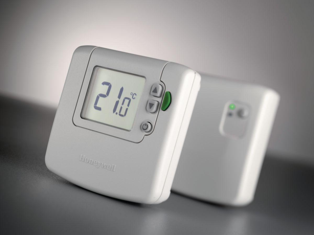 Thermostat d'ambiance digital RF avec touche ECO DT92E Réf DT92E1000