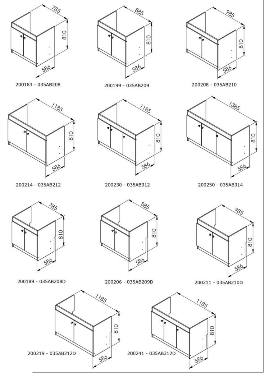 aquarine meuble sous vier liberty 140 x 58 6 x 82 cm 3. Black Bedroom Furniture Sets. Home Design Ideas