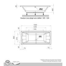 baignoire droite prefixe 180x80cm blanc r f 199092. Black Bedroom Furniture Sets. Home Design Ideas