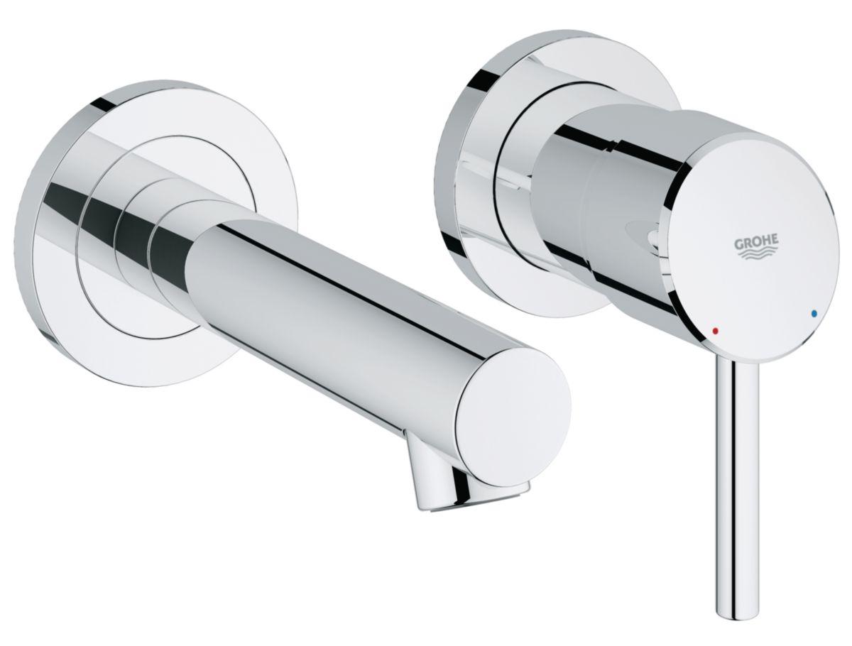 GROHE - Mitigeur de lavabo CONCETTO, monocommande, 2 trous, montage ...